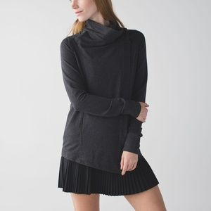 Lululemon Coast Wrap Size 2 Heathered Mod Black